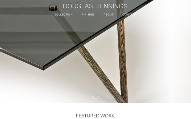 Screenshot of Douglas Jennings Collection website