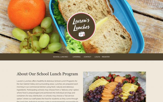 Screenshot of Lauren's Lunches website